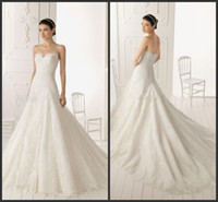 A-Line Model Pictures Strapless wholesale --2014 Fashion latest Strapless sleeveless Mop the floor for 3 to 5 feet Organza applique decoration A-Line Wedding Dresses A016