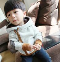 Wholesale Autumn Winter Keep Wear Kids Hoody Outwear Korean Thicken Fleece Small Baby Boys Hoodies Year Children Sweatshirt Coat QZ160