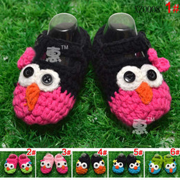 Wholesale Soft Soled Shoes Toddler Footwear Warm Shoes First Walking Shoes Infant Crochet Shoes Boy And Girl Cute Cartoon Shoe Baby First Walker Shoes