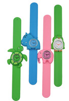 Casual Children's Water Resistant Silicone Kids Slap Japan Movement Watch
