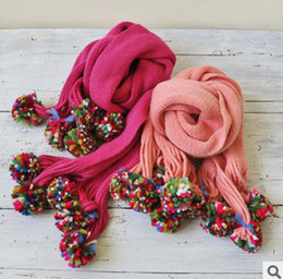 Wholesale New Baby Girls Scarf Winter Kids Sweet Candy Color Scarves High Grade Fashion Wool Scarf