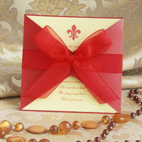 Wholesale European high end invitations Creative wedding invitations Personalized wedding invitations Red z06