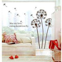 Wholesale Free EMS PVC Fashion cm Vinyl Wall Stickers Art Decals Dandelion Flying Removable Wallpaper Decoration L383