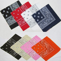 Wholesale 12 National Cotton Paisley Bandana Double Side Head Wrap Scarf Wristband