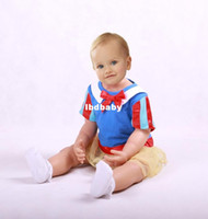 Unisex Spring / Autumn Short Adorable baby girls suit Two-piece baby suit: bowknot headband+ Snow White baby romper 2013 Fashion design