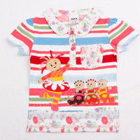 Wholesale KF2786 Nova Kids wear y y Baby girls polo shirts cartoon in the night garden shirts t shirts cotton short sleeve trendy tops