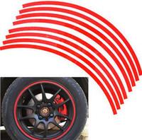 Wholesale Good quality Strips quot Wheel Reflective Car Motorcycle Rim Sticker WHEEL Rim Stripe Decal sticker Waterproof Rim Sticker