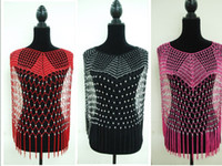 Wholesale high quality handmade bling bling with silver beaded tops