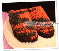 Wholesale Mother s hand bootie pure manual hook knitting wool slippers slippers to keep warm to wear at home