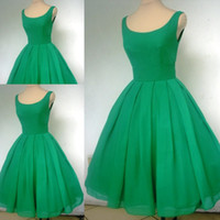 Wholesale Real sample a style emerald green boat neck short cocktail dress JW084