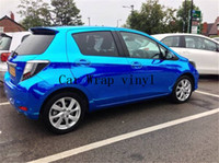 Whole Body pvc cling film wrap - Golden silver blue rose red chrome foil car wraps air free bubbles pvc cling film wrap m m cv30m