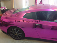 Wholesale Golden silver blue rose red chrome foil car stickers free bubbles pvc cling film wrap m m cv30m