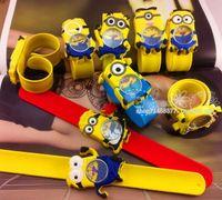 Children's slap watch - New slap watch d Eye Despicable Me minion Precious Milk Dad Children Watches Slap Snap On Silicone Quartz Wrist Watch