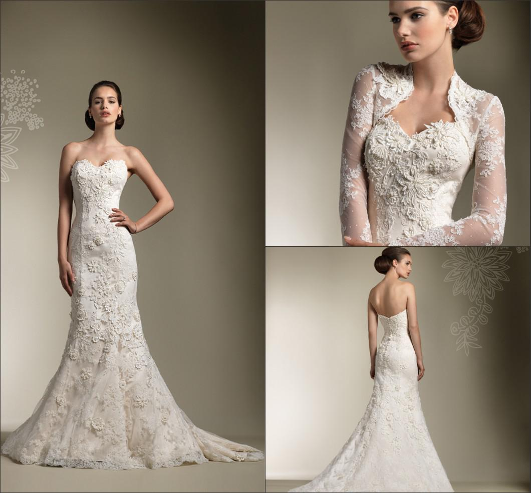 2014 New Arrival Hot Elegant Wedding Dresses Sweetheart Mermaid ...