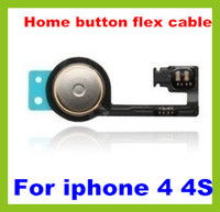 Wholesale 1000pcs DHL shipping Brand New Home Menu Button Flex Ribbon Cable for iPhone G S GS
