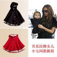 Wholesale Children s clothing autumn and winter child sheep woolen cloak girl child cape cloak outerwear fashion