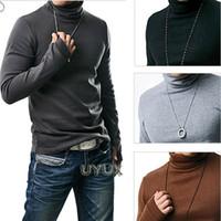 2016 Nuovo Inverno Kint camice Moda Slim uomini Camice casuali manica lunga Collo Camicie colori solidi Felpe 8 colori M28