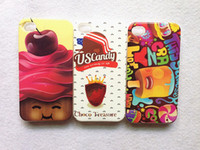 Wholesale UK USA Flag Cute Cartoon Owls Birds Fruit Cupcake Design Fashion TPU Case For iPhone G S Back Cover Skin