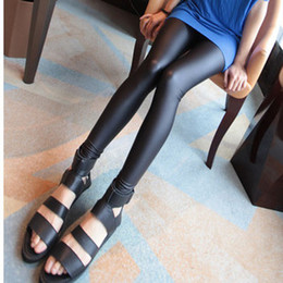 Wholesale Korean version women PU leather pants feet pants leggings Slim models mix order piece dhl