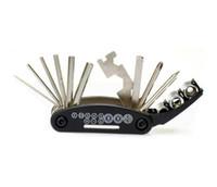Wholesale New SAHOO Bike Repair Set Tool Bag Mini Pump Patch Kits Tire Lever A Set W1000A