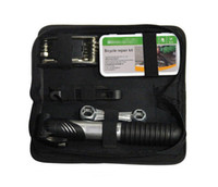 Wholesale New SAHOO Bike Repair Set Tool Bag Mini Pump Patch Kits Tire Lever A Set W1000A