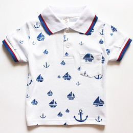 Wholesale NEW kids polo Boy s T Shirts children boy t shirt short sleeve summer Sailing top