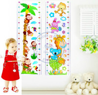 Wholesale Kids cartoon wall stickers Growth Height chart ruler Measure grow up with me Decor Decoration