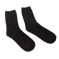 Wholesale Black Warm Thick Women Mens Sport Socks Yellow Spot Soft Autumn Winter Stockings Hosiery