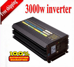 3000W factory directly inverter;12V DC to 100V - 230V; modified sine wave power inverter in car