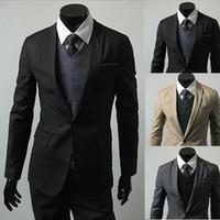 Wholesale ZL Stylish Men Casual Slim Fit One Button Fashion Suit Blazer Coat Jackets