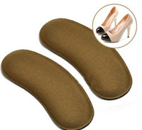 Memory Foam Insoles   10x2 pcs Sponge Non-woven Gel Heel Cushion Foot Care Shoe Pads Wholesale