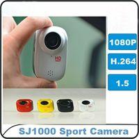 DV - H New Waterproof Full HD P mini video camera outdoor sport sporting camera DV SJ1000 with GB Card H1006