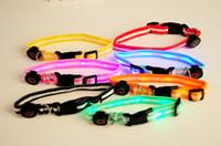 6 LED intermitente collar de perro de correas para perro cuentas de Lámpara led de mascotas collar de gato collares 7colors