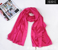 Wholesale original hot pure silk scarves pure color mulberry silk scarf silk scarves