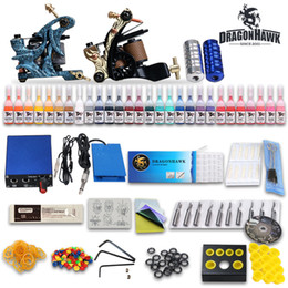 Wholesale USA Dispatch Professional complete cheap tattoo kits guns machines ink sets equipment power supply MGT