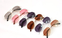 Wholesale 10 New arrivals Classic Fashion Baby Children Colorful Goggles Casual Anti UV Sunglasses