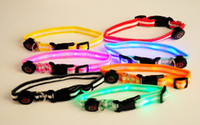Wholesale High Quality LED flashing dog collar dog leash led Lamp beads pet collar cat collars