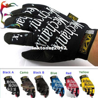 Wholesale fashion MECHANIX man glove mitten military tactical glove racing cycling motor work army safe glove