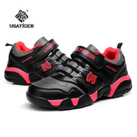 Wholesale 2013 Athletic Kids Shoes Black Sport Shoes Cool Stylish Design Breatbable PU Leather Material Skid Resistant Sole With Velcro Hot Sale