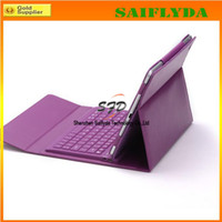 Wholesale Wireless Bluetooth Keyboard Stand Leather Case for ipad air colors