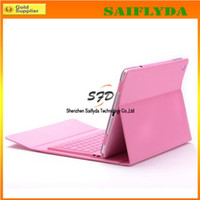 Wholesale Wireless Bluetooth Keyboard leather case for quot new ipad ipad air with retail box