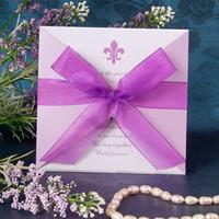 Wholesale European high end invitations Creative wedding invitations Personalized wedding invitations Purple z07