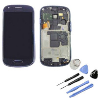 Wholesale For Samsung S3 Mini i8190 Original LCD Display Touch Screen Digitizer Frame Assembly with repair tools