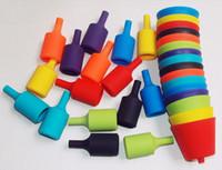 plastic pendant lights - Fashion Hot Seven multicolour pendant night market pendant light plastic silica gel kit single pendant light multicolour zero accessories