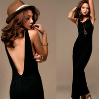 Casual Dresses Round Ankle Length Free shipping 2015 fashion Sexy Women Boho Backless Beach Holiday Party Long Maxi Dress