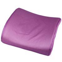 Waist Cushion Purple Cotton Purple Memory Foam Lumbar Back Support Car Cushion Pillow For Office Car Auto Seat Chair DFJ1*1