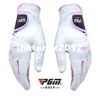 Wholesale Female genuine leather golf gloves anti slip wear resisting breathable glove