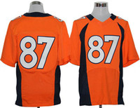 Football Men Short #87 Decker Jerseys 2014 New Arrival American Football Elite Jerseys Hot Sale Orange Sports Wear Top Quality Embroidery Logo Jerseys