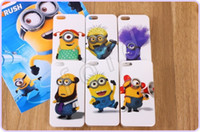 For Apple iPhone   Despicable Me Minions TPU soft silicone gel rubber cartoon cute lovely case For iphone 4 4G iphone 5 5g 50pcs lot