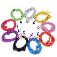 For Samsung   High Quality Colorful 3M 10ft Micro USB Data Sync Charger Cord Charging Cable For Samsung Galaxy S4 i9500 S3 S2 Blackberry HTC 3 Meter